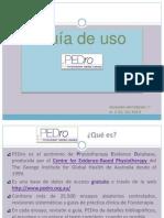 PEDro - Guía de uso vr2
