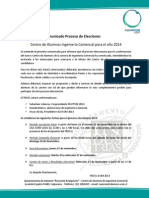 Comunicado Proceso Eleccionario CAA 2014