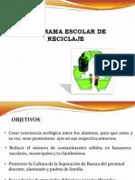 Programa Escolar de Reciclaje Llorente Ciclo 2012-2013