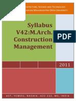 ycmou m arch construction management syllabus