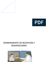 Departamento Recepcion y Reservacion