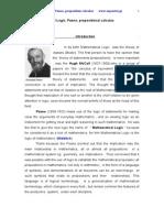 Mathematical  Logic, Peano, proposition calculus.doc