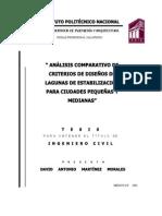 Analisis Comparativo de Criterios e Disenos de Lagunas de Estabilizacion Para Ciudades Pequenas y Medianas