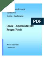 Unidade 1 - Conceitos Gerais Sobre Barragens - Parte 1