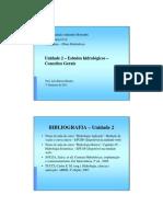 Unidade 2 - Estudos hidrológicos - Conceitos Gerais