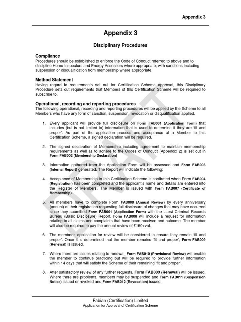 Fabian appendix 3 disciplinary procedurespdf bankruptcy fabian appendix 3 disciplinary procedurespdf bankruptcy criminal record 1betcityfo Images