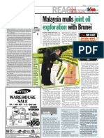 TheSun 2009-08-07 Page02 Malaysia Mulls Joint Oil Exploration With Brunei