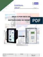 Instrucciones Reemplazo Decs-15 Por Decs-200