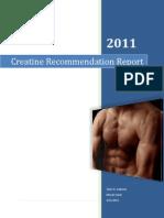Creatine Recommendation Report