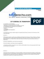 leyes de transporte  normas jurídicas de nicaragua
