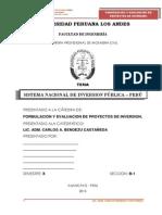 Monografia Sobre El Snip en El Peru