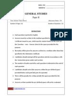 Gs II Model Test Paper