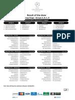 Calendario UEFA Champions