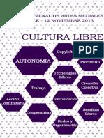 Programa Cultura Libre Bienal Arts Mediales 2013