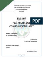 ENSAYO sobre LA TEORÍA DEL CONOCIMIENTO HOY