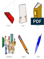 flesh cards - classroom objects.docx