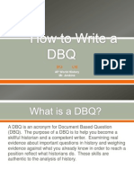 how to write a dbq lesson presentation