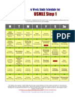 Detailed 6 Week Study Schedule Usmle