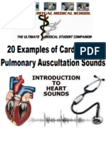 Cardiac and Pulmonary Auscultation Sounds-mp3 Downloads