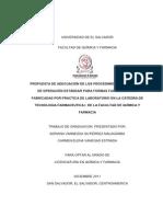 Operaciones Estandar en Formas Farmaceuticas Tesis