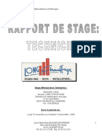 Rapport de Stage Technicien Thermique BTS 2004 Complet Photos
