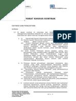 Bab 2 - Syarat Khusus Kontrak