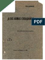 A Las Armas Ciudadanos, Pro-Obregón