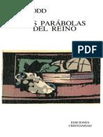 Dodd, c.h. - Las Parabolas Del Reino. Edic. Cristiandad 1974