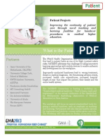 Flyer of the PATIENT Project