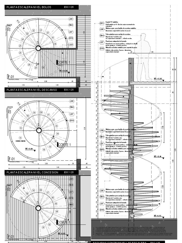 Escalera de caracol - Dimensiones escalera de caracol ...