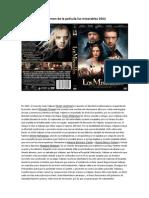Resumen de la película los miserables 2012