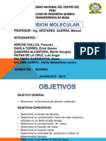 Diapositivas Difusion Molecular