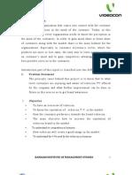 Videocon Television Project Report