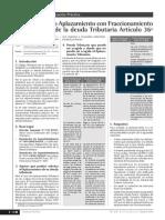 Aplazamiento o Aplazamiento Con Fraccionamiento de La Deuda Trbutaria Articulo 36