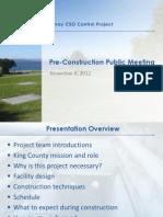 Murray CSO project pre-construction presentation