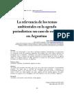 Alcaraz 2013. Temas ambientales en agenda periodística