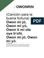 Orin Owonrin Meji