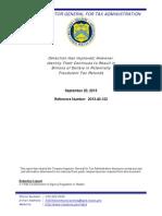 US Internal Revenue Service (IRS) Inspector General's Report