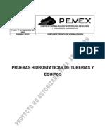 Pruebas Hidrostaticas ASME B31 3