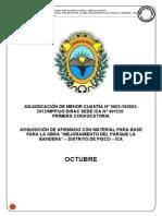 Afirmado Obra Mejoramiento Del Parque La Bandera