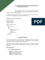 FLP Analisis Lexico y Sintactico Nuevo Lenguaje
