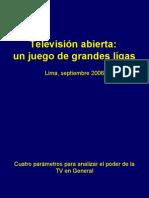 I Media Forum 2006 - Peru - TV