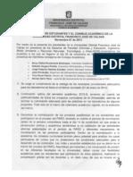ACUERDOS CON EL CONSEJO ACADÉMICO NOV 07