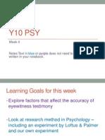 2013 year 10 psychology week 4