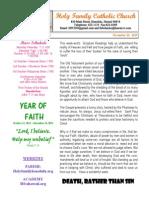 hfc november 10 2013 bulletin