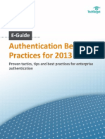 Authentication Best Practices for 2013