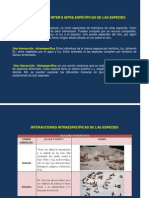 INTERACCIONES INTER E INTRA ESPECÍFICAS DE LAS ESPECIES