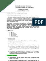 2009-08-10 Council Agenda Session