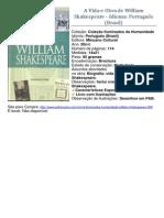 A Vida e Obra de William Shakespeare