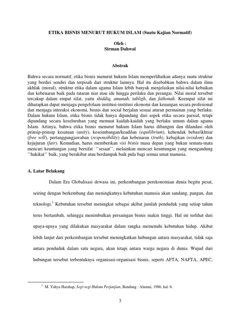 Etika Bisnis Dalam Islam Pdf